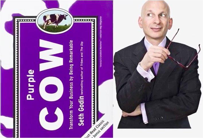 Purple Cow Seth Godin - Come Risaltare in un Mercato Saturo di Informazioni